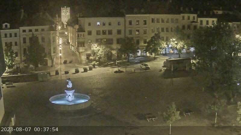 Pohled na horní část Masarykova náměstí